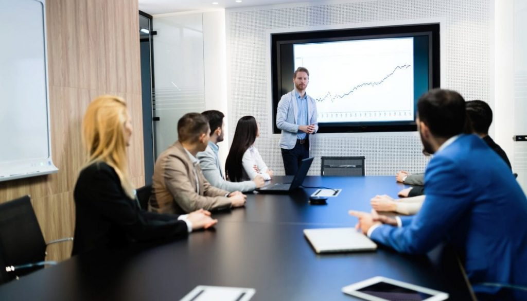 Picture of businesspeople having meeting in conference room