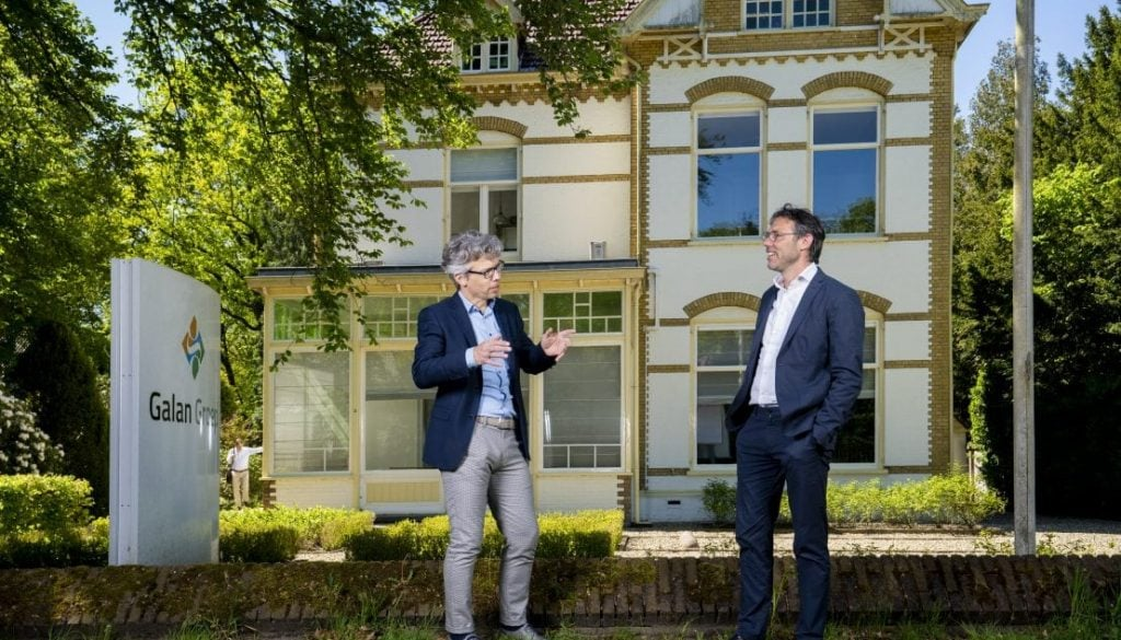 De Galan Groep dubbelportret van Gerard van Dieren en Ruurd Baane (twee directeuren).